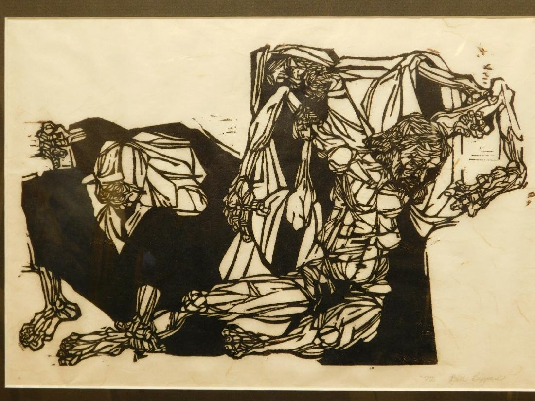 Bill Bippes: Deposition, 1972 woodcut