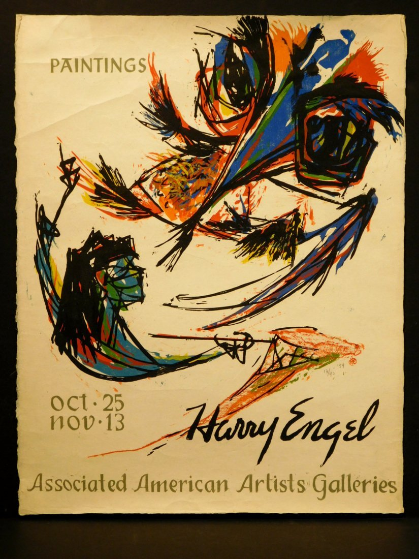 Henry Engel: Exhibition Poster, woodblock