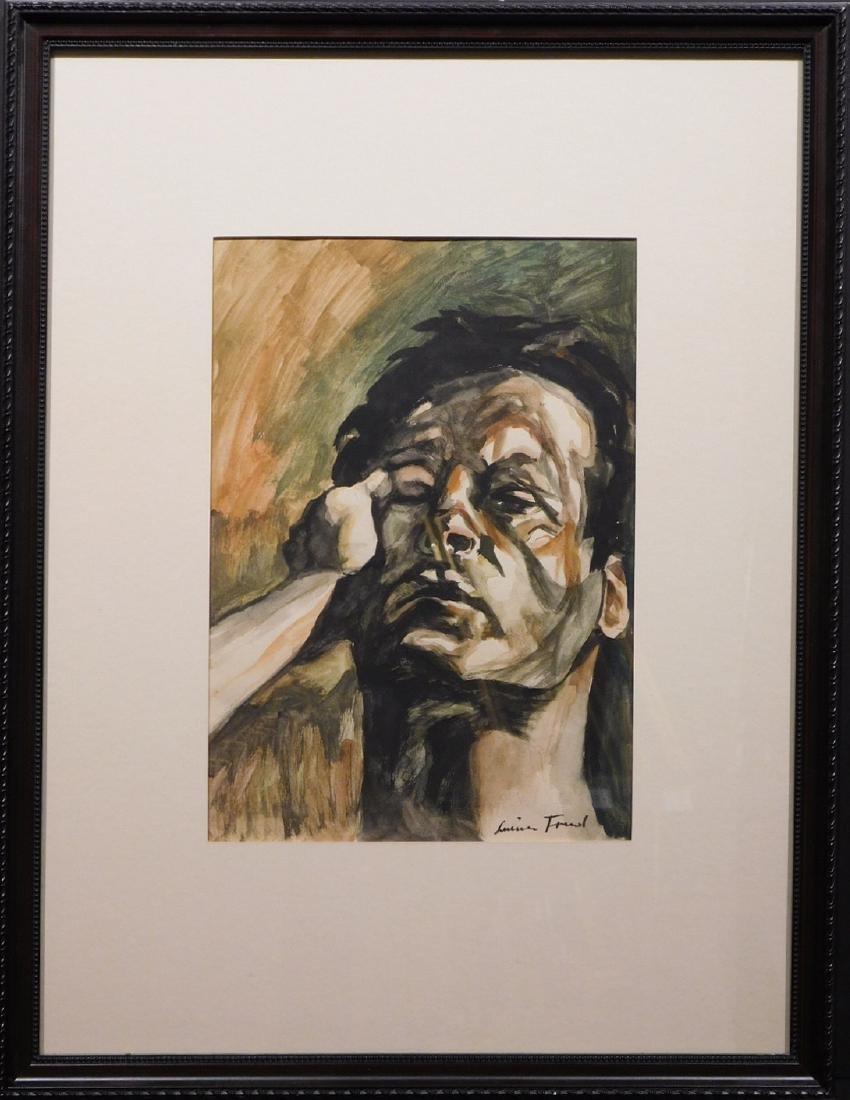 After Lucien Freud: Male Portrait - 7