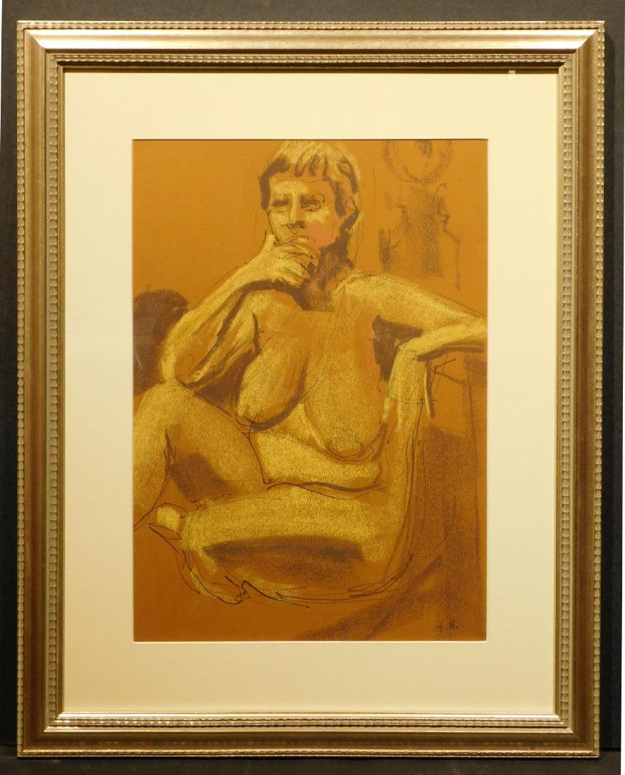 E.H.: Figure Study of Nude Woman
