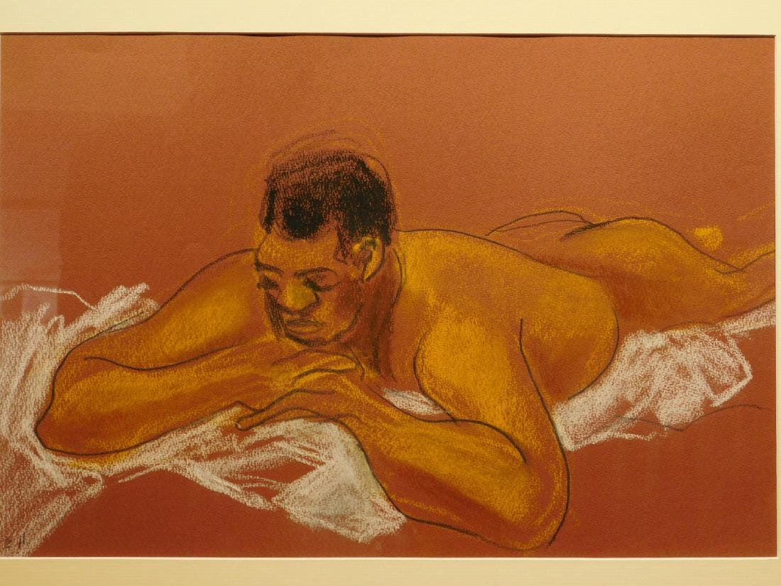 E.H.: Figure Study of Nude Man