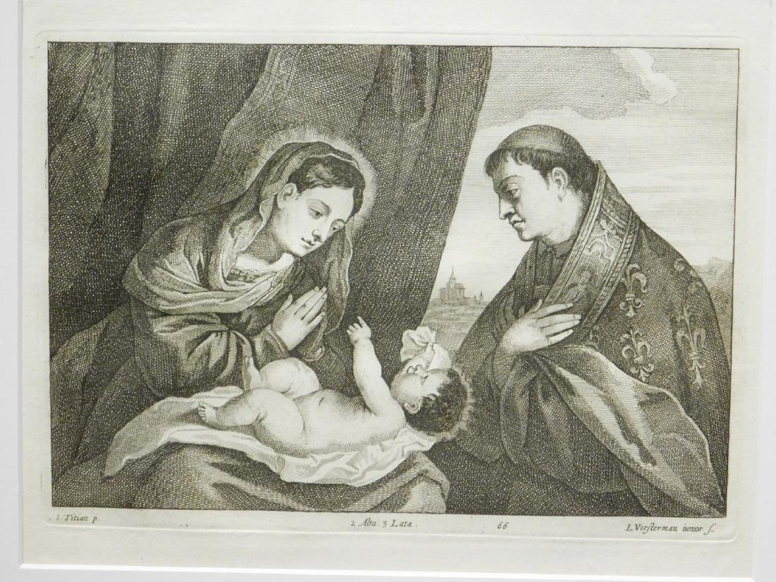 Lucas Vorsterman II after Titian: Madonna, Child and