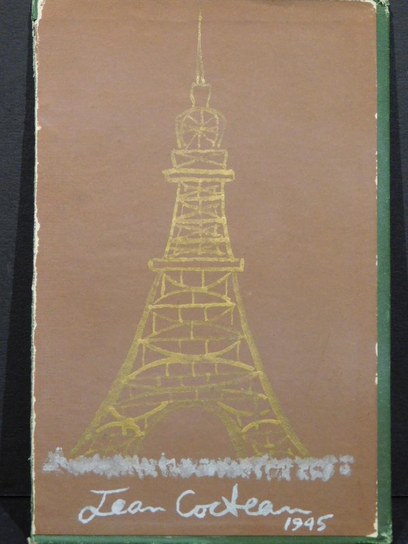 Jean Cocteau: Eiffel Tower Sketch on book cover