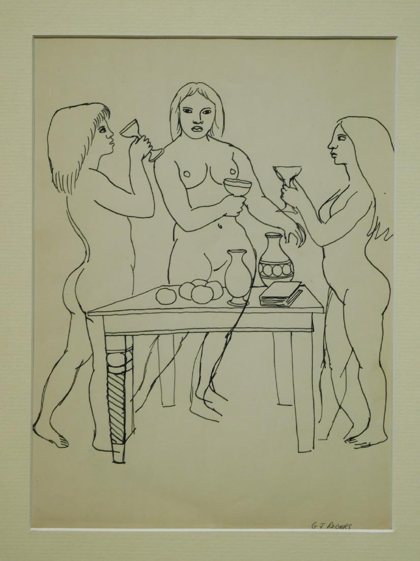 G.J. Rogers: Figure Study of Three Female Nudes