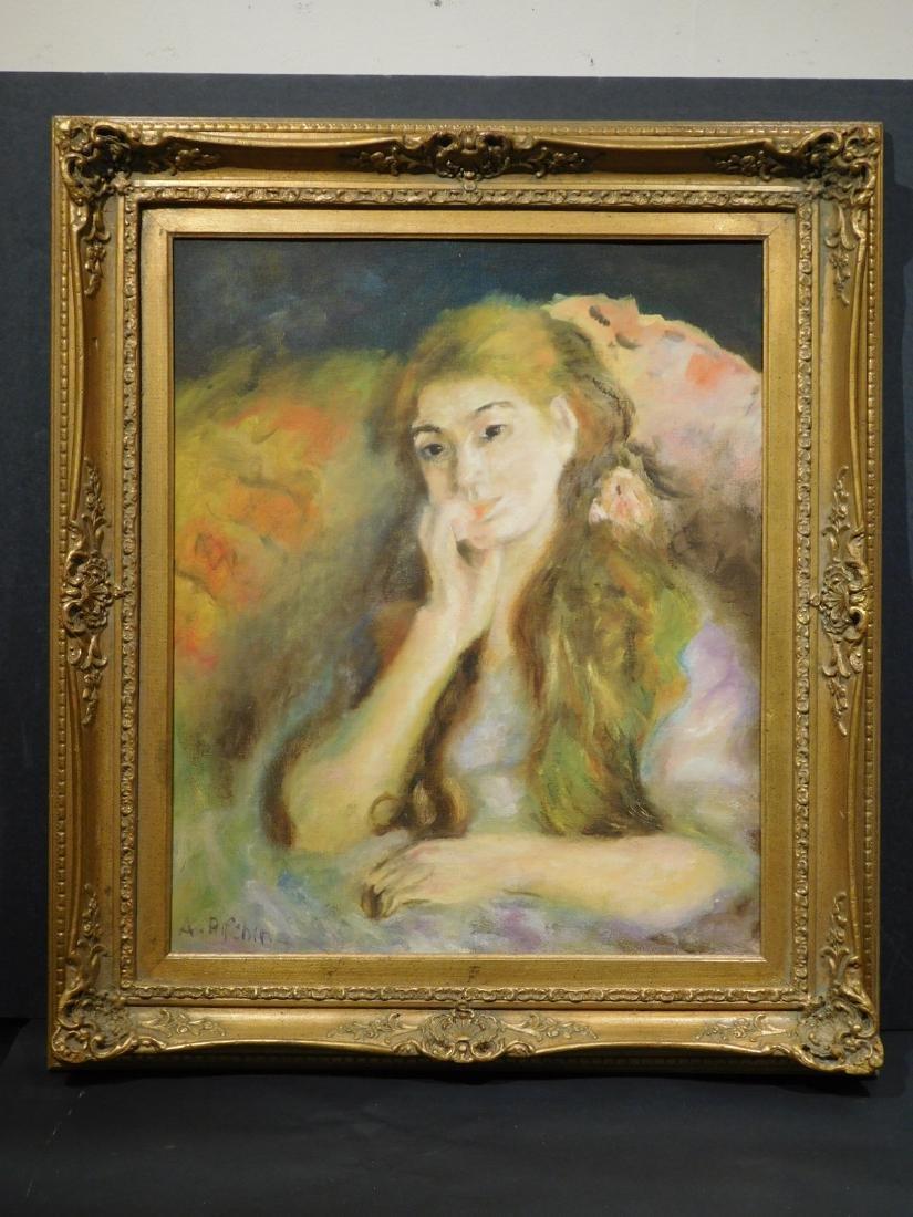 A. Rifchin: Portrait of a Girl (After Renoir)