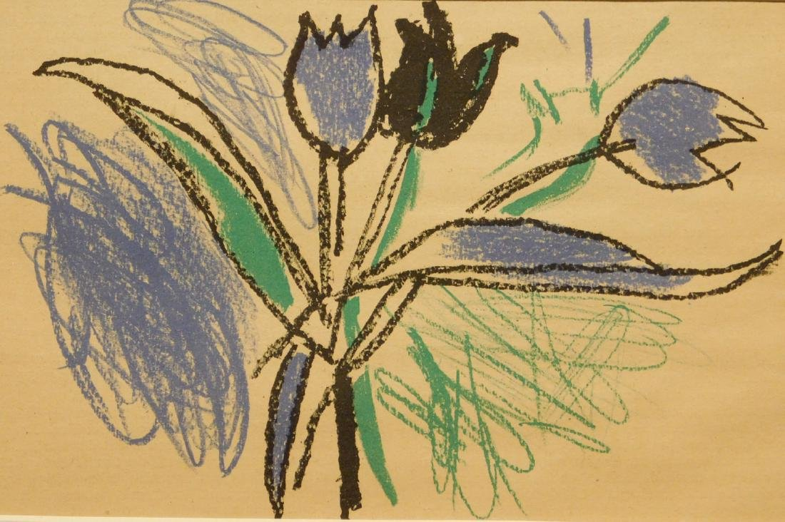 Andre Marchand: Flower,  Lithograph 1947
