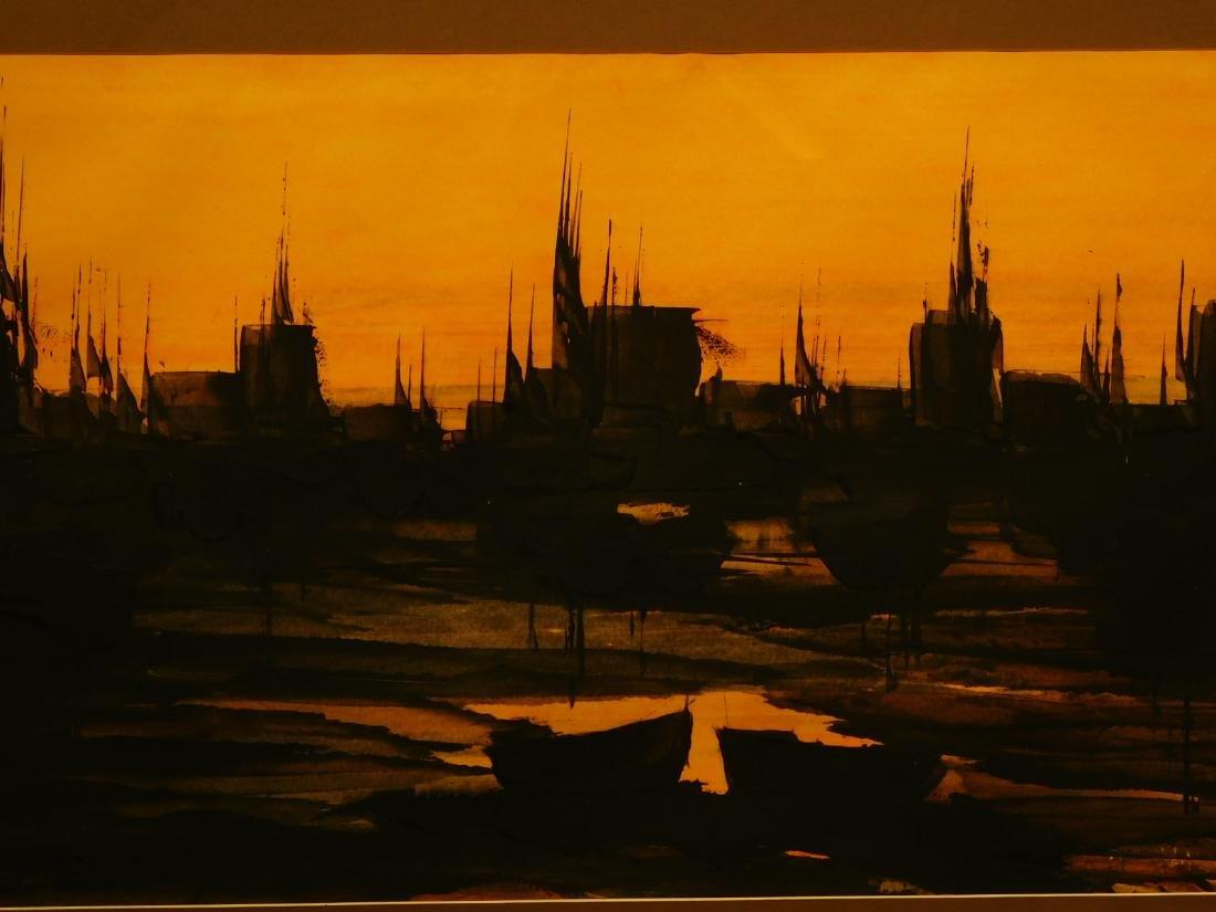 Karl Steiner: Boats at Sunset