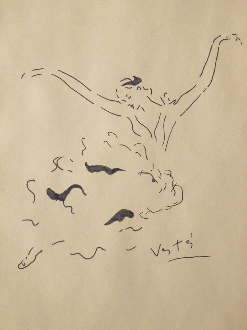 Marcel Vertes: Ballet Dancer, Ink Drawing