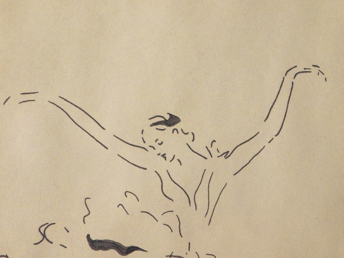 Marcel Vertes: Ballet Dancer, Ink Drawing - 6