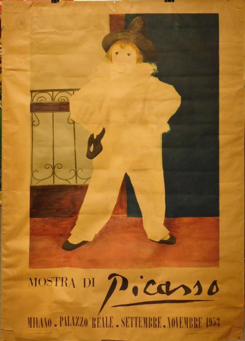 Rare Pablo Picaso 1953 Subway Poster