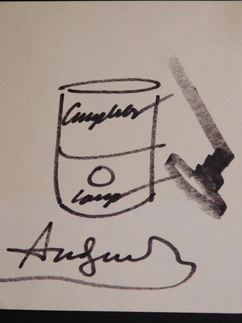 Andy Warhol: Campbell's Soup Drawing