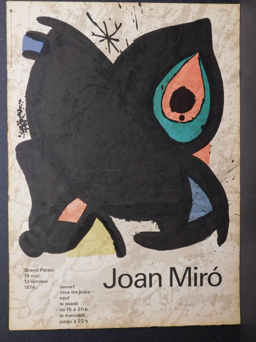 Joan Miro: Original Lithograph Exhibition Poster
