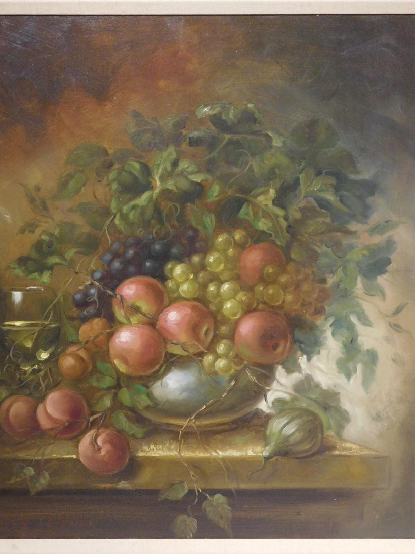Xavier Leitner: Still Life with Apples and Grapes