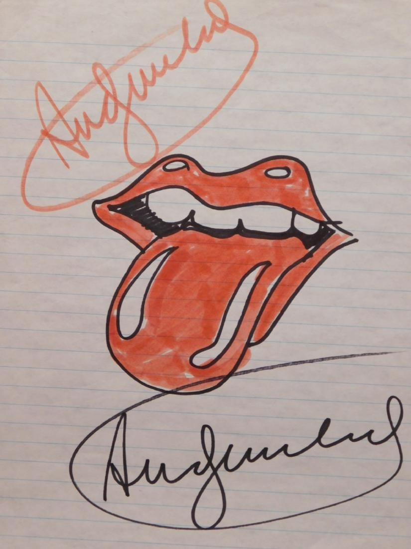 Andy Warhol: Tongue and Lips (Rolling Stones Logo)