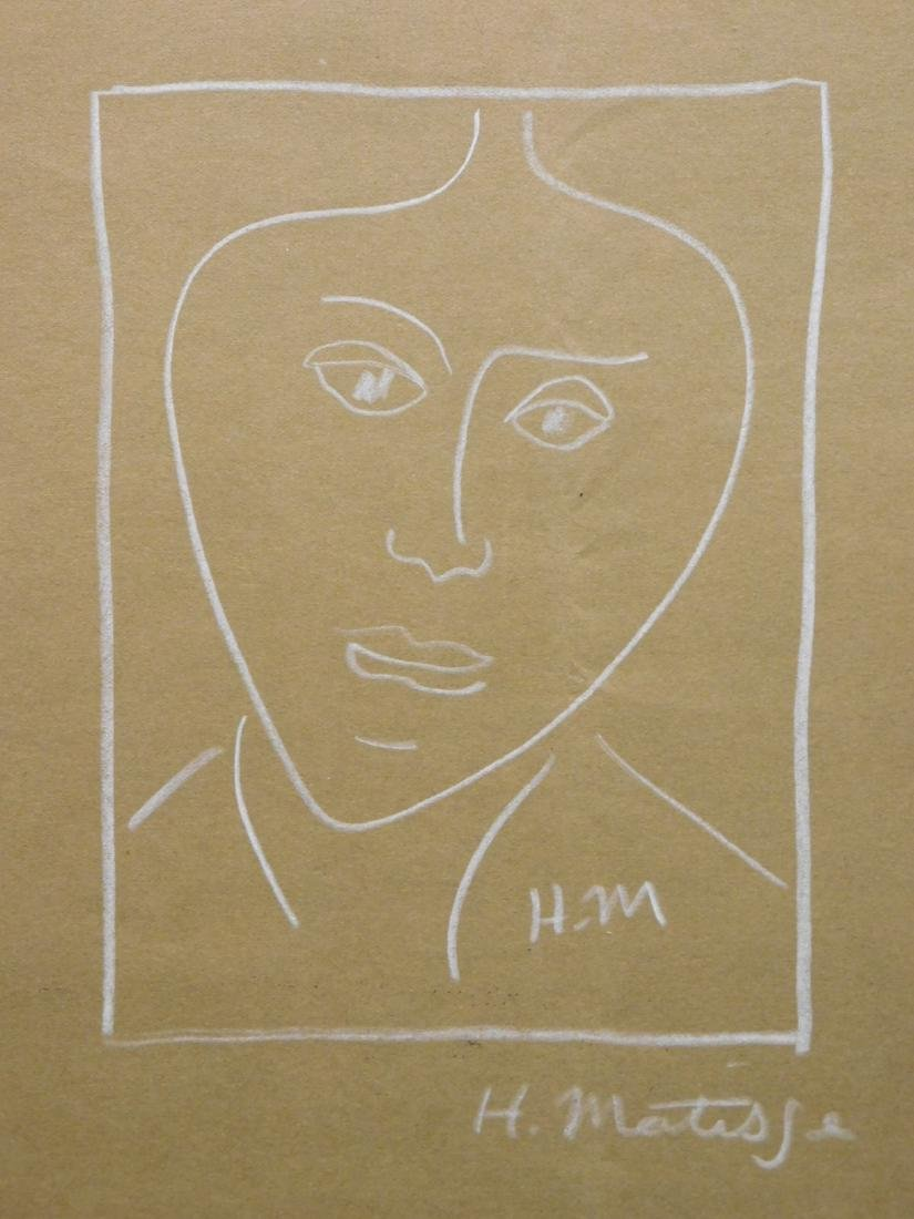 Henri Matisse: Portrait in White Pencil