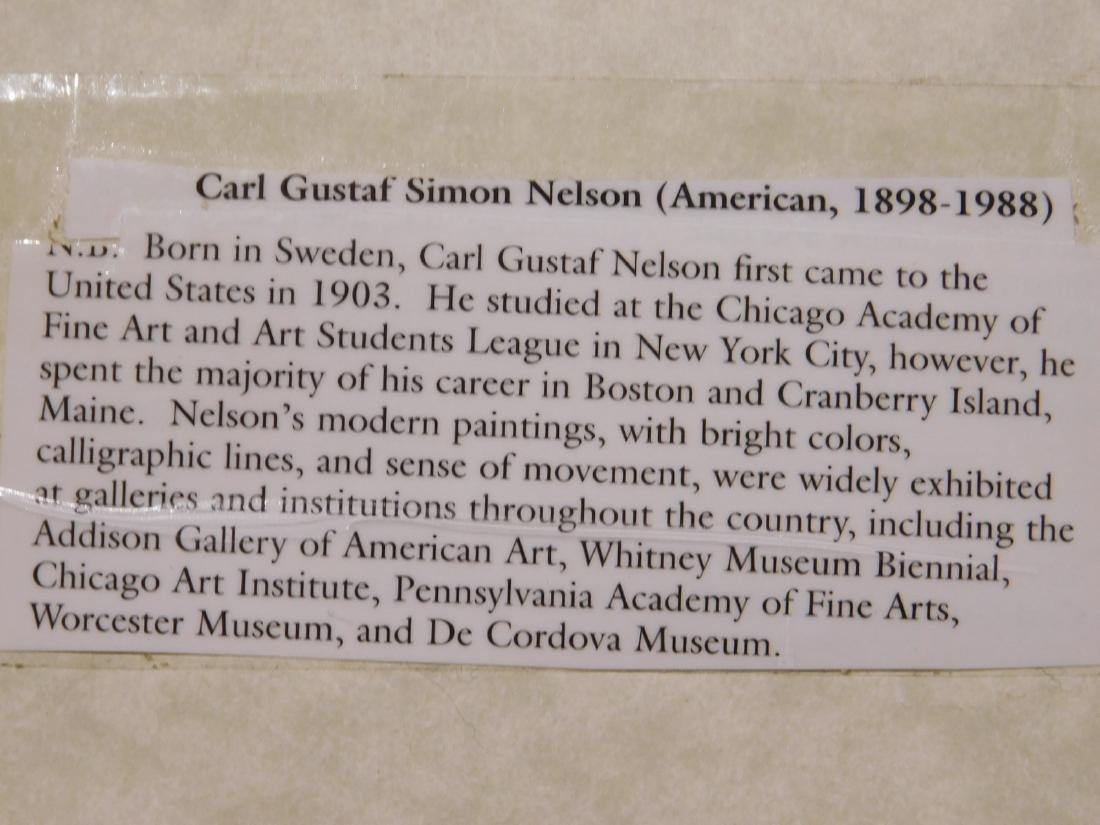 Carl Gustaf Simon Nelson (1898-1988):  Abstract - 8