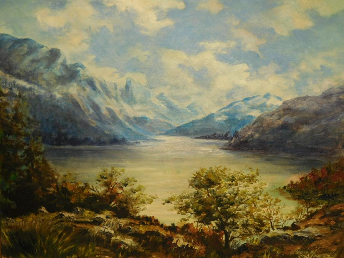 Lake Josephine and Grinnell Glacier Painting