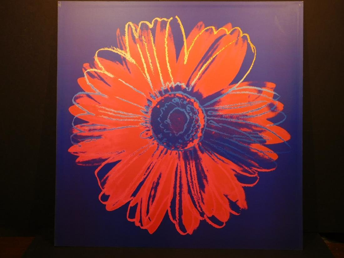Andy Warhol: Daisy Series – Blue & Red