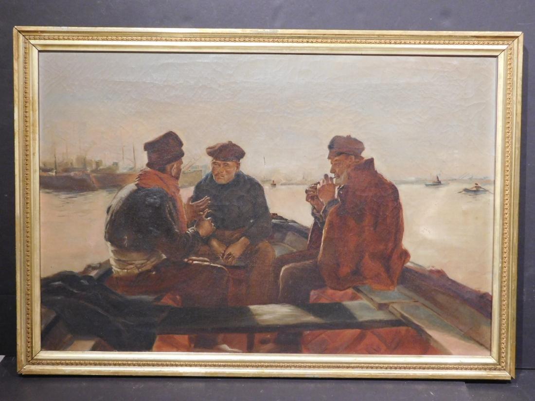 American School: Three Fishermen on a Boat