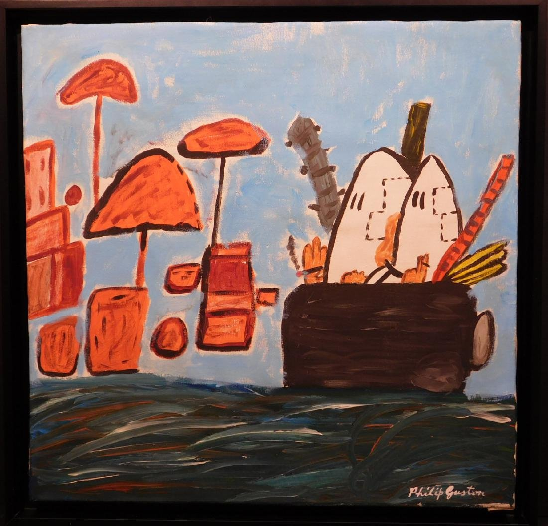 Manner of Philip Guston: Untitled, Landscape with