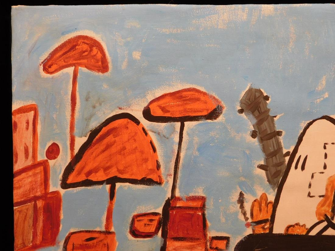Manner of Philip Guston: Untitled, Landscape with - 5