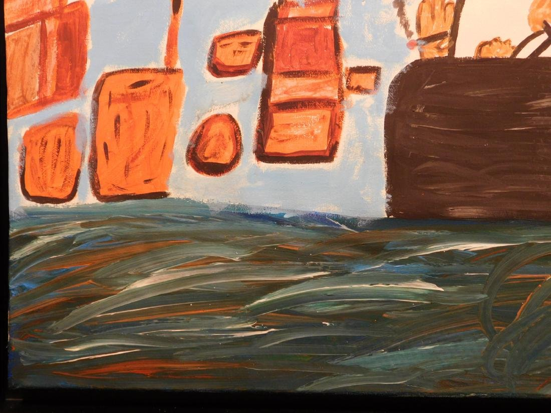 Manner of Philip Guston: Untitled, Landscape with - 6