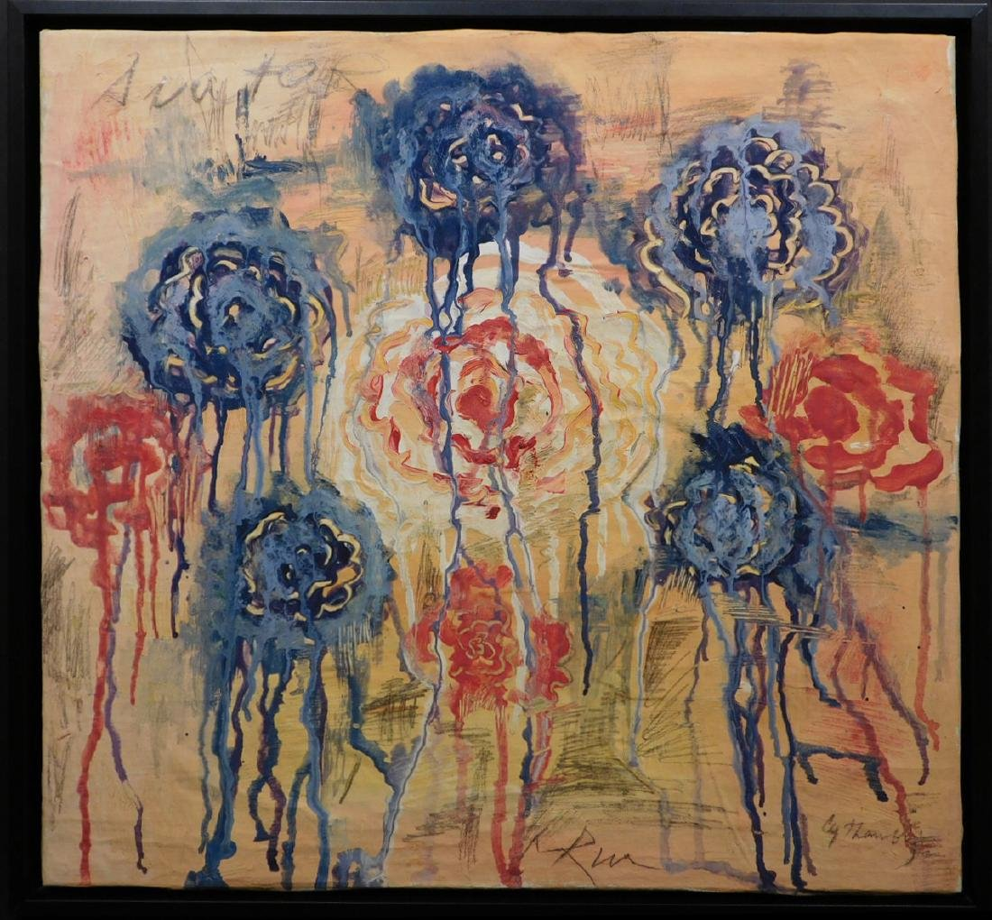 Manner of Cy Twombly: Untitled (Flowers)