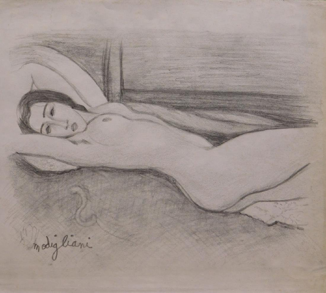After Amedeo Modigliani: Reclining Nude