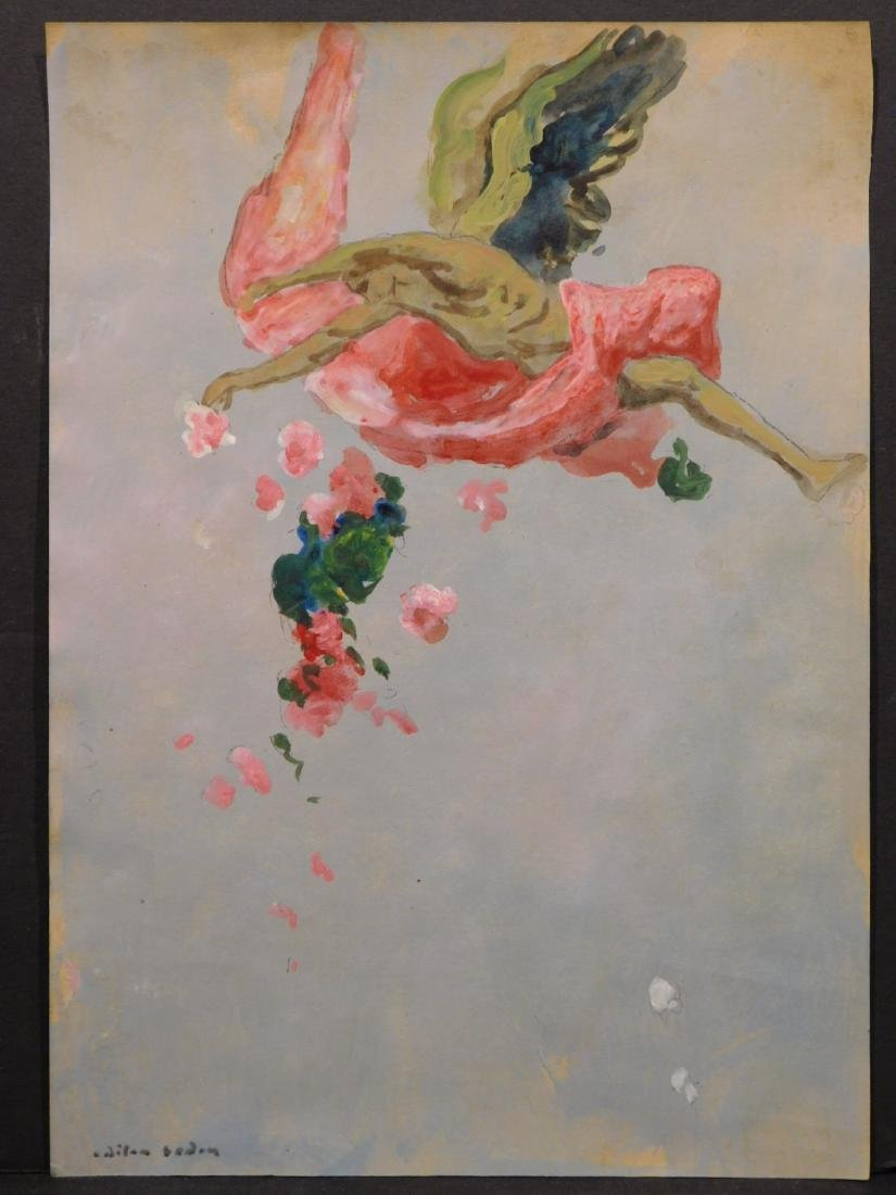 After Odilon Redon: Study for The Fall of Icarus