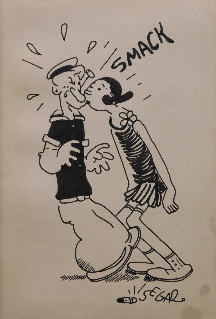 Bud Sagendorf: SMACK - Olive Oyl kissing Popeye