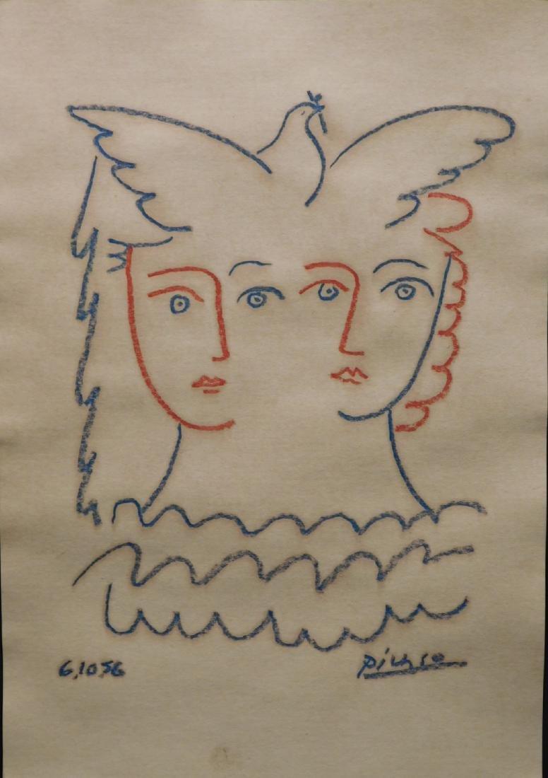 Pablo Picasso: Peace Dove and Faces