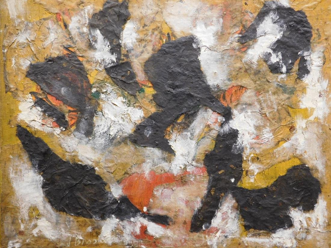 James Brooks: Expressionist Mixed Media Collage