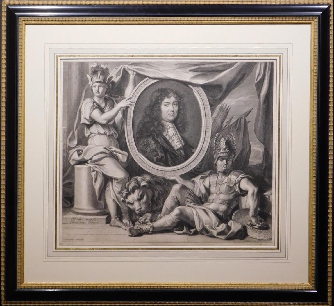 Gerard Edelinck: Francois Michel Le Tellier Marquis de