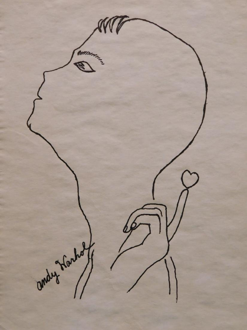 Andy Warhol: Portrait with Heart atop a Finger