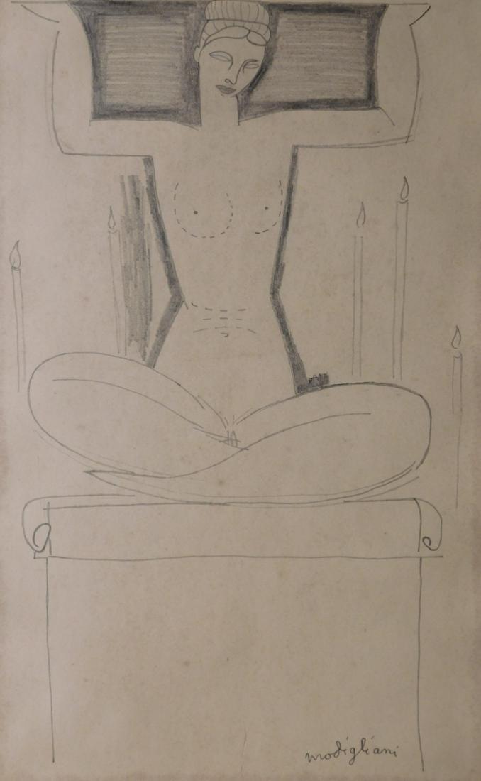 Amedeo Modigliani: Seated Nude Woman