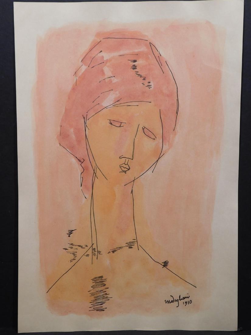 Amedeo Modigliani: Volto di una Donna