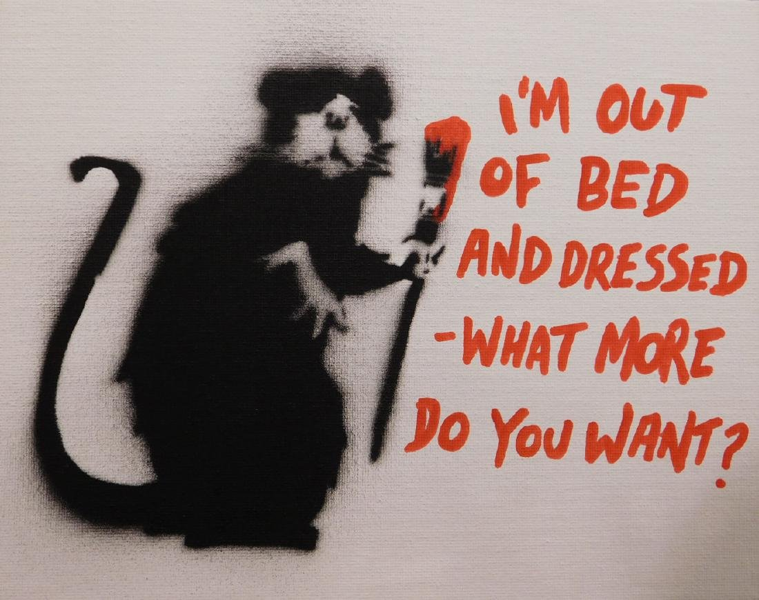 Banksy: I'm Out of Bed and Dressed
