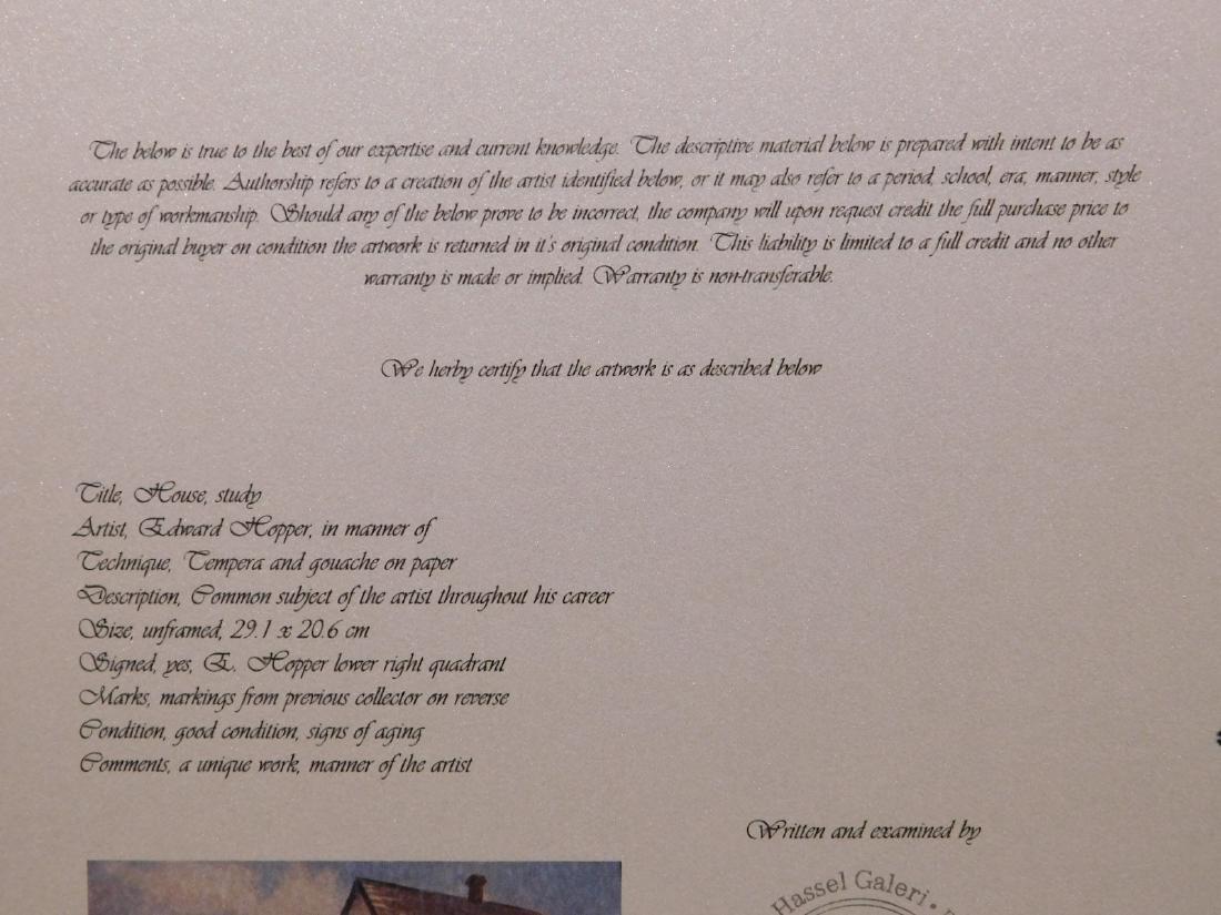 Manner of Edward Hopper: House (study) - 9