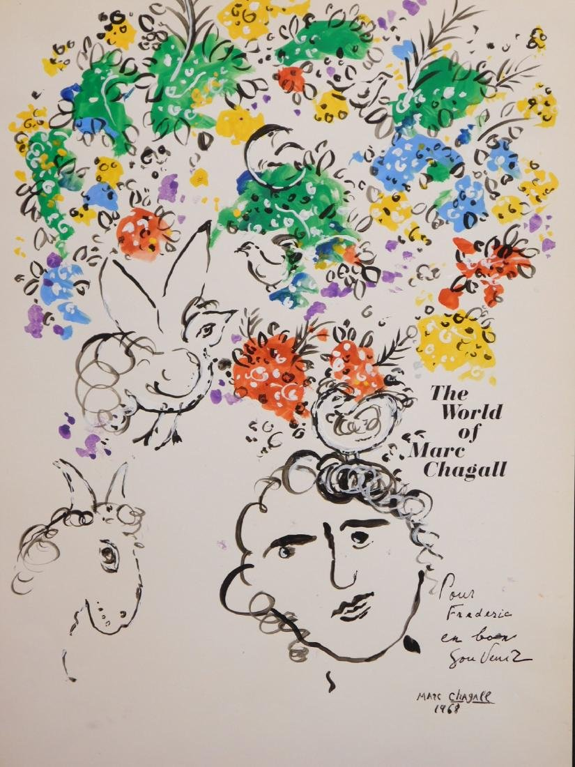 Marc Chagall: 1968 Drawing/Painting