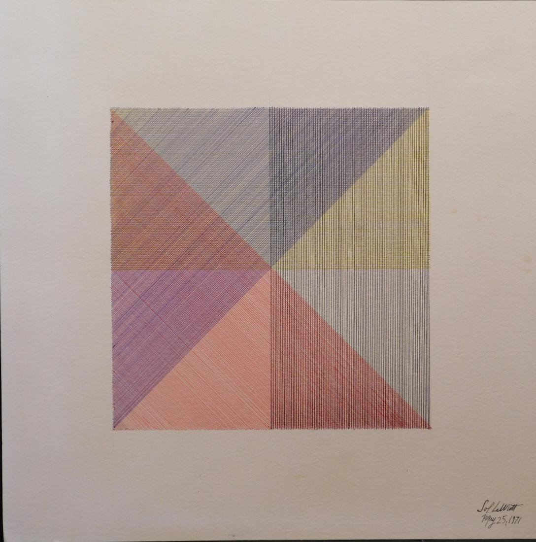 Sol Lewitt: Four Color Drawing 1971