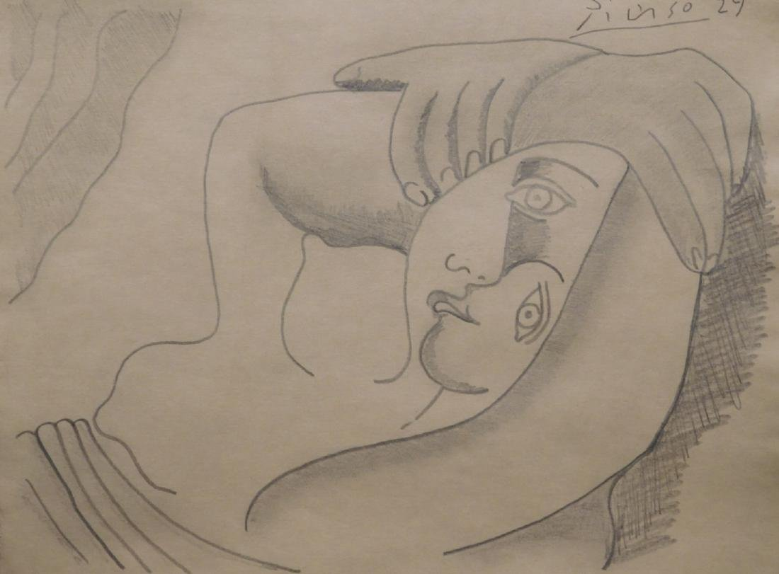 Pablo Picasso: Reclining  Nude Woman