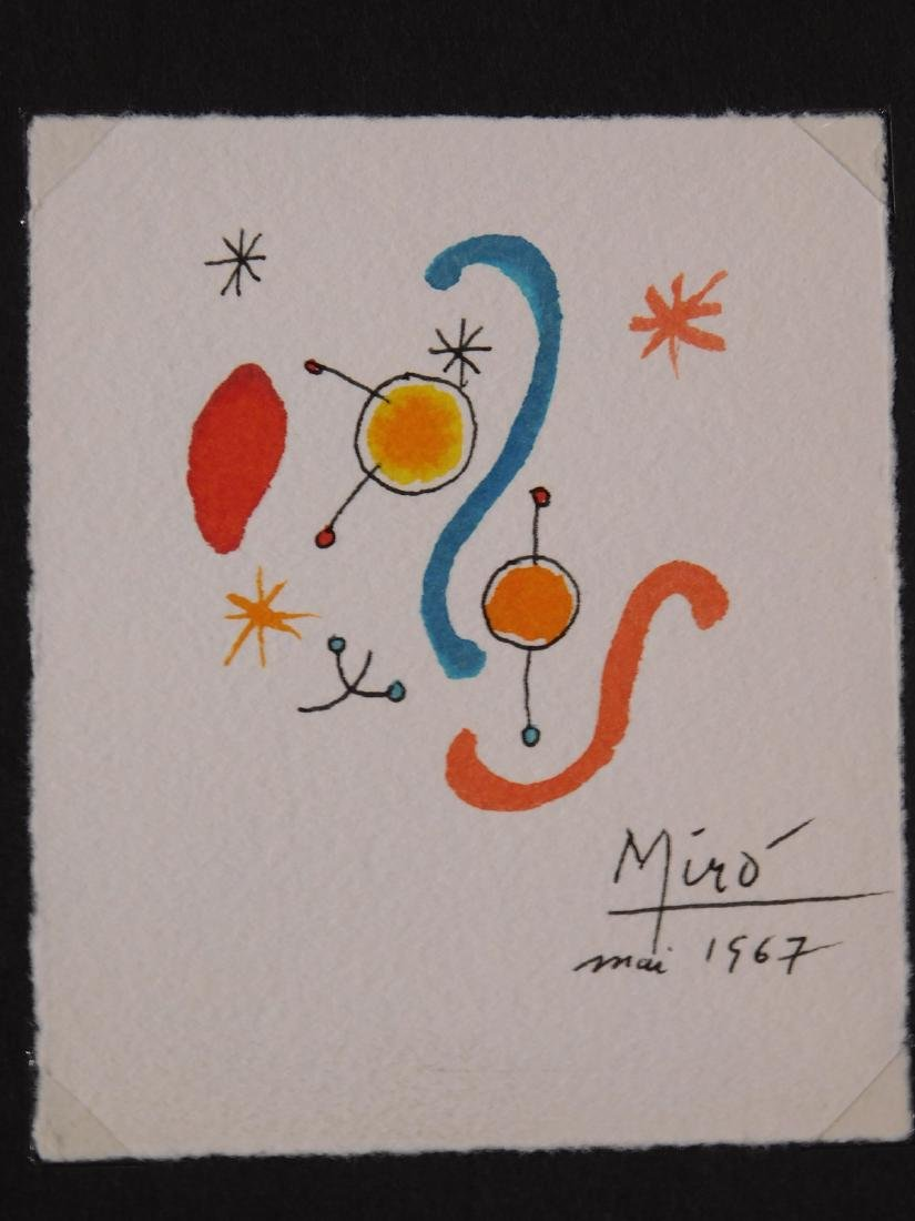Joan Miro: Abstract painting on paper