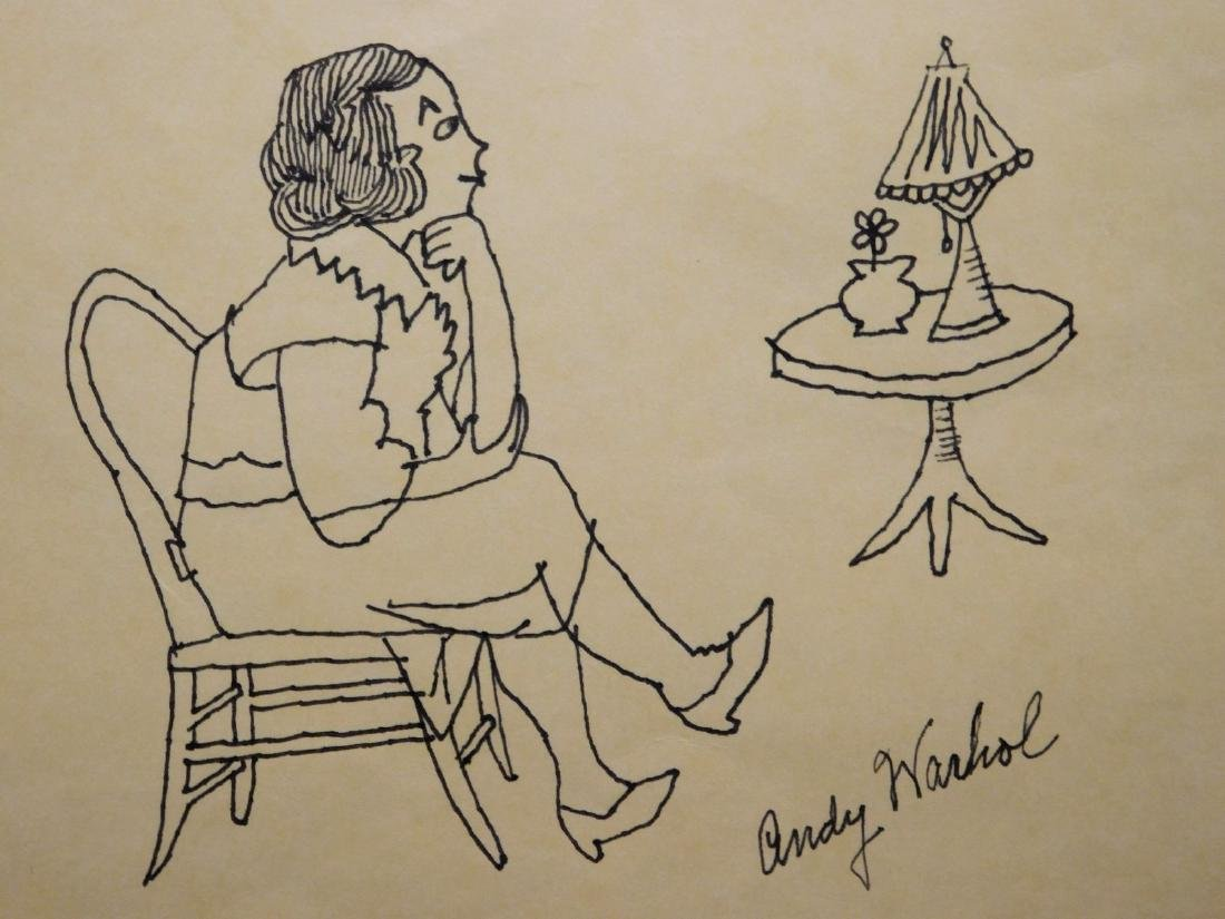 Andy Warhol:  Portrait of a Seated Woman