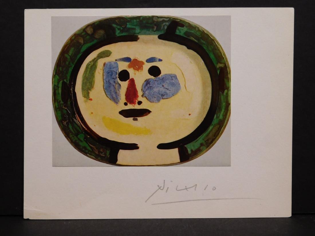 Pablo Picasso: Autographed print