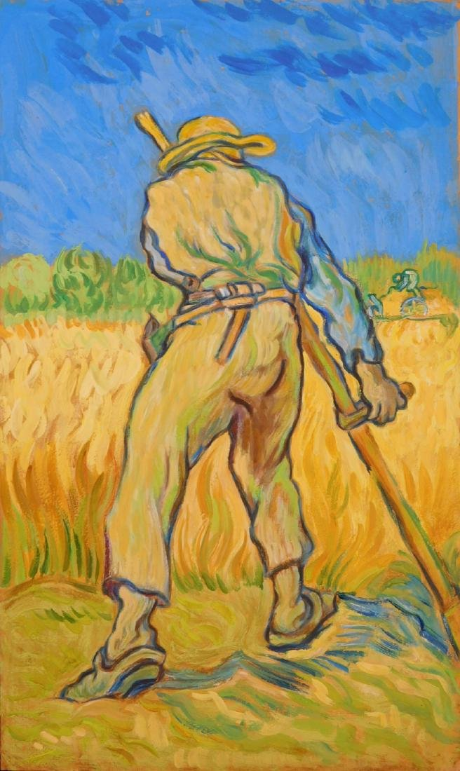 Vincent van Gogh: Scything Grain