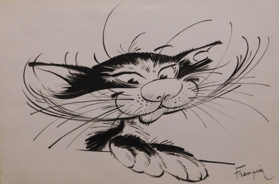 André Franquin: Cat of Gaston Lagaffe