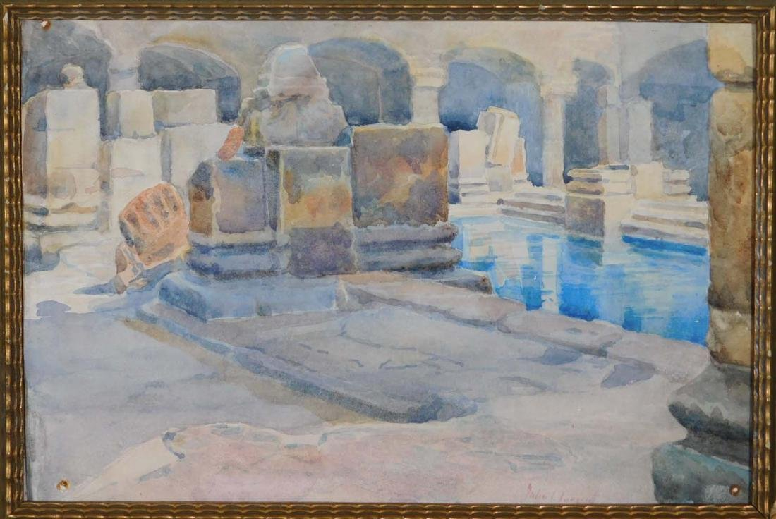 John Singer Sargent: Classical Interior with Reflecting
