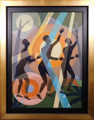 Aaron Douglas: Abstract Composition with Silhouettes