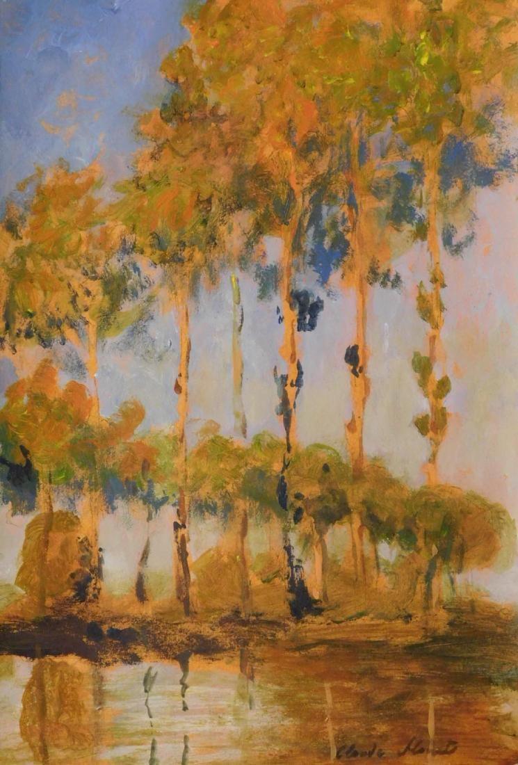 Claude Monet: Poplar Study