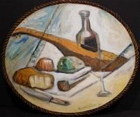 Emil Filla: Oval Still Life, 1923